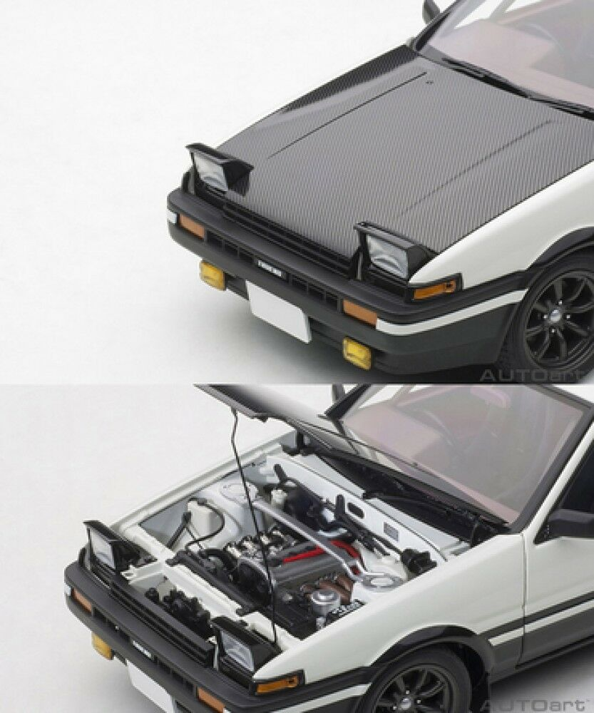 New New New Toyota Sprinter Trueno (AE86) Initial D Project D final version 1 18 scale 58a6cc