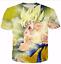 New-Women-Men-Dragon-Ball-Z-Vegeta-Goku-Super-Saiyan-Print-Casual-3D-T-Shirt-Tee thumbnail 26
