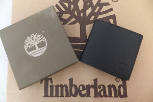 Timberland-Genuine-Mens-Black-Deep-Grained-Bi-Fold-Leather-Coin-Note-Wallet-BNWT