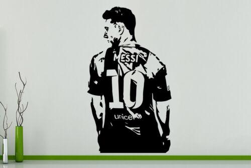 Lionel Messi Football Spieler Argentinien Kinderzimmer Aufkleber Wandkunst