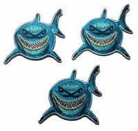 Finding Nemo Bruce The Shark Embroidered Patch Set Of 3