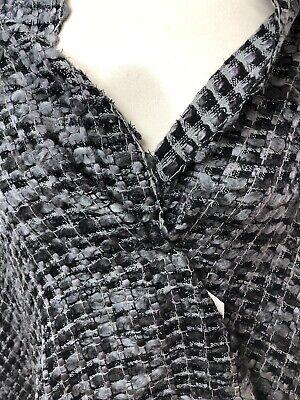 tissu jersey lycra haute couture bi-extensible col noir  lurex noir 100X150 cm