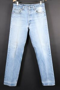 VTG 80s LEVI'S 501 XX Button Fly Denim Jeans USA Mens Size 35x38 Actual (32x35)