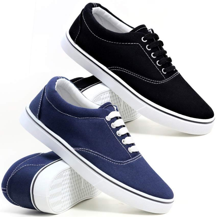 Mens Lace Up Casual Canvas Boat Deck Summer Plimsolls Trainers Pumps shoes Size