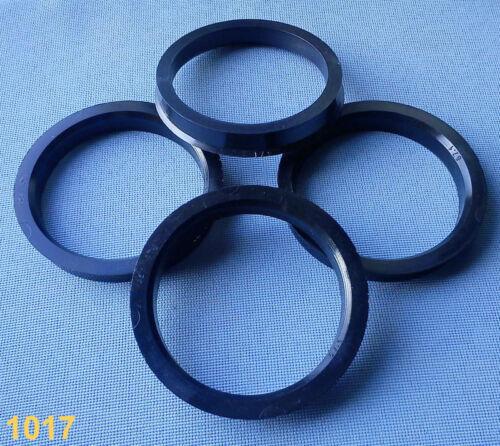 4 pièces Bagues de centrage 67,1 mm 57,1 mm Noir pour jantes Alu 1017