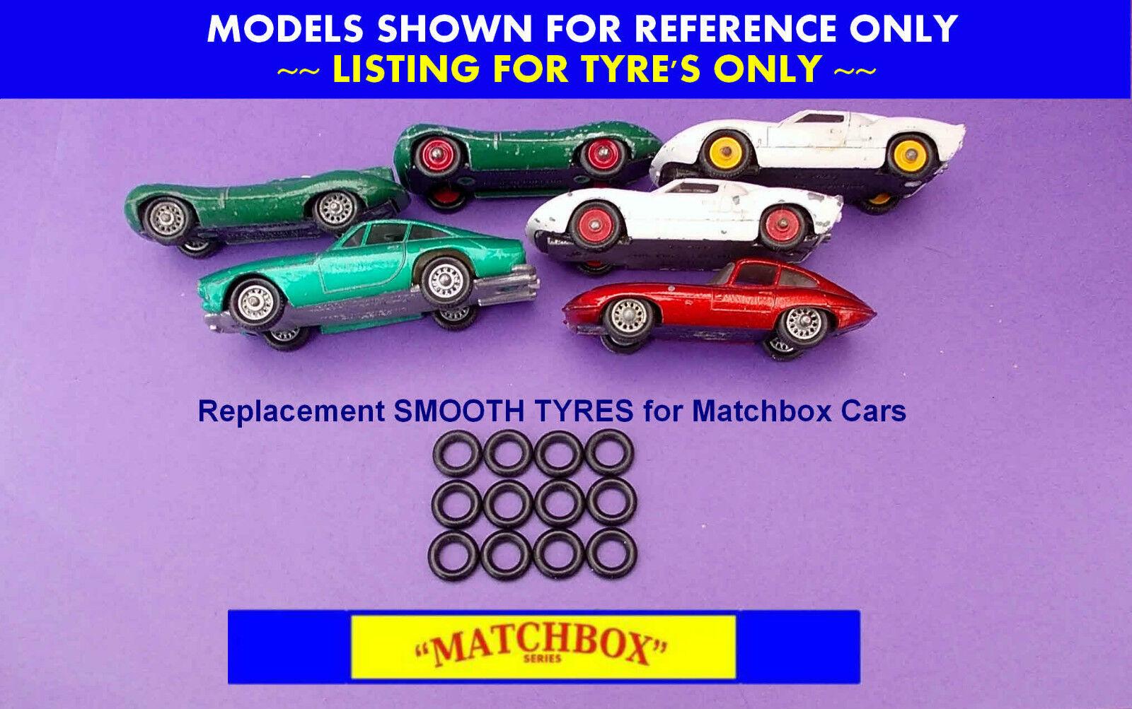 Pneus pour MATCHBOX REGULAR WHEELS JAGUAR 32b 41b FORD GT40 41 C Ferrari 75b
