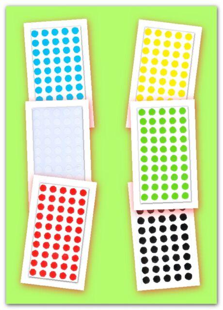 300 Markierungspunkte Vielzwecketiketten 12 mm Ø, 6 Farben sortiert