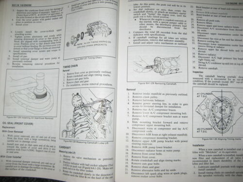 86 1986 CHEVROLET CORVETTE L98 ENGINE GM FACTORY REPAIR SERVICE SHOP MANUAL