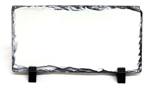 29X14CM RECTANGLE SUBLIMATION ROCK SLATE PRINTABLE WHITE PHOTO HEAT PRESS SH16