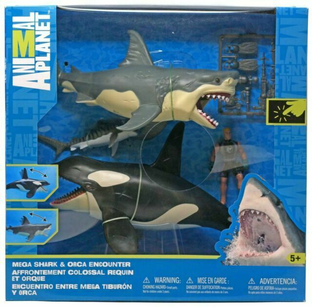 Animal Planet MEGA SHARK and ORCA ENCOUNTER W// Great White /& Tiger Shark /& Diver