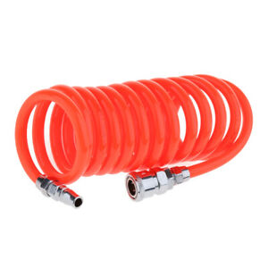 9-8-FOOT-Red-RECOIL-PNEUMATIC-RE-COIL-COIL-AIR-COMPRESSOR-HOSE-1-2-039-039-Swivel