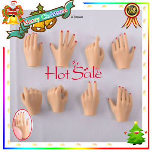 5-Pairs-1-6-Female-Hand-Types-Hand-Models-For-12-039-039-PHICEN-Action-Figure-A-Brown