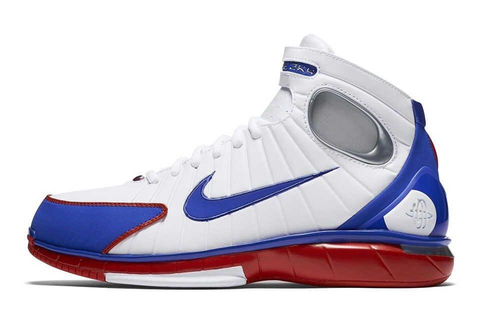 Nike Zoom Huarache 2K4 KOBE LA All Star AS White Red Blue Team USA Olympic Sz 10 Special limited time