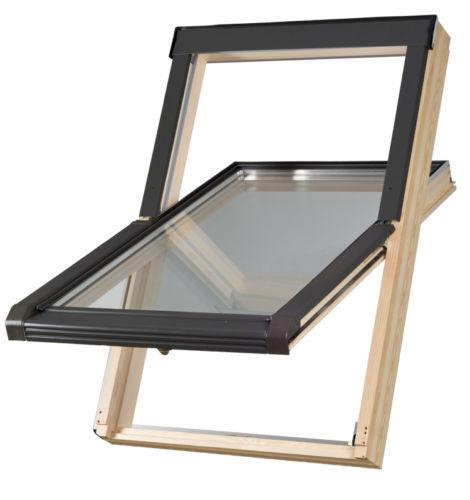 Dachfenster 78x118 118x78 Schwingfenster inkl Eindeckrahmen Dauerlüftung