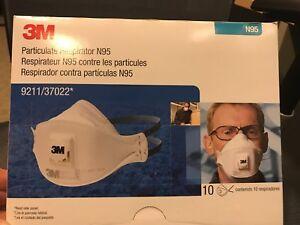 3M-9211-37022-Particulate-Respirator-N95-10-masks-per-box-USA-Seller
