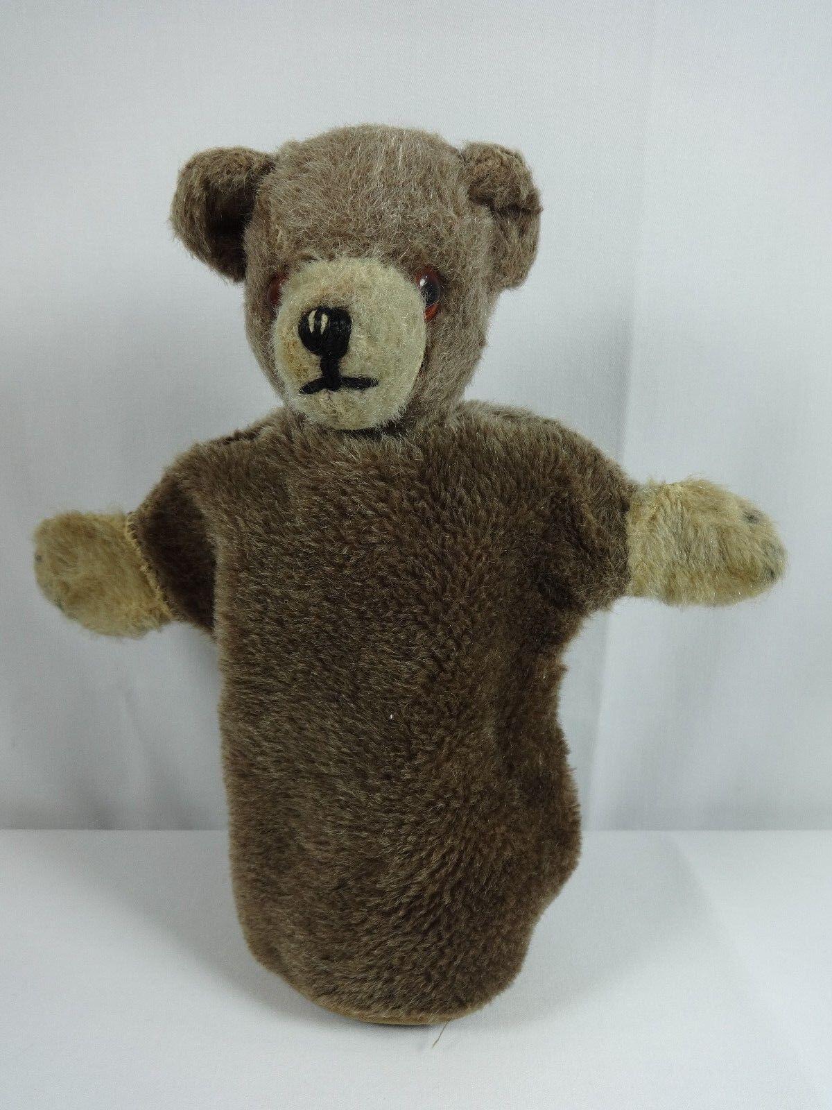 Vintage Teddy Bear Hand Puppet Antique Animals Toy