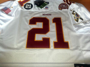 reputable site db1f3 6bdd4 Details about Brand N Redskins #21 Sean taylor Throwback White edition Dual  Patch SEWN Jersey