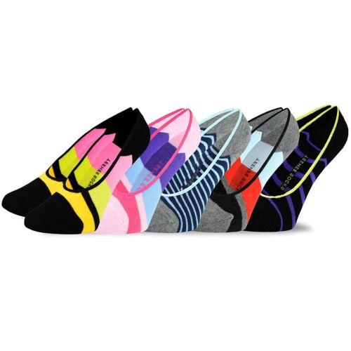 TeeHee Footies Women/'s Hidden Cotton Liner Socks w// Non-Skid 5pk Striped Footie