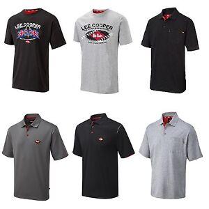 c0c0d7577 Mens Lee Cooper Work wear Polo Shirts Graphic T Shirt Cotton T ...