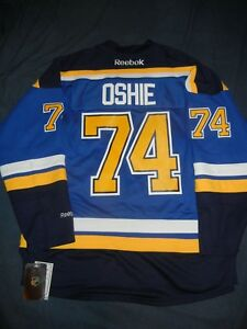 promo code cb831 9832a Details about ST LOUIS BLUES Reebok TJ OSHIE Jersey Large Blue NHL Capitals  Tarasenko NWT
