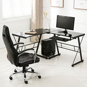 L-Shape-Glass-Computer-Desk-PC-Laptop-Table-Home-Office-Corner-Workstation-Black
