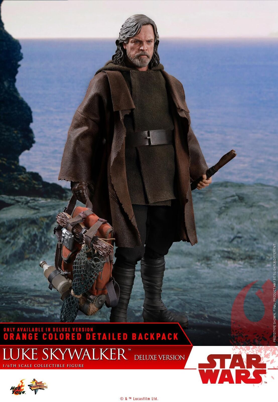 Movie Masterpiece Luke Skywalker Collectible Figure MM458 [Deluxe Version]