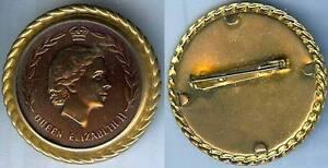 Grande Bretagne - Broche Plastifiée Années 1950/1960 Queen Elsabeth Ii V4eawsde-07214528-858560562