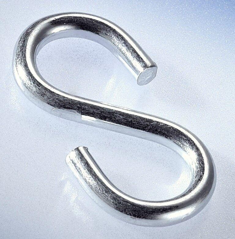 100 x S - Haken verzinkt Stärke = 5,7 mm Länge = 60 mm Einhängehaken Haken