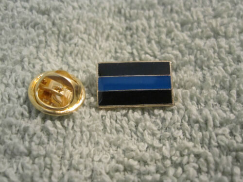 Thin Blue Line Cops Lapel//Tie Tack Hat Pin Police Pin Free TBL Wristband