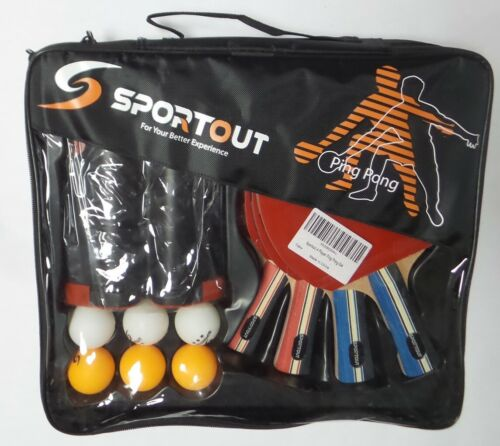 Balls And Portable Case Details about  /Sportout Ping Pong Paddle Set With Retractable Net