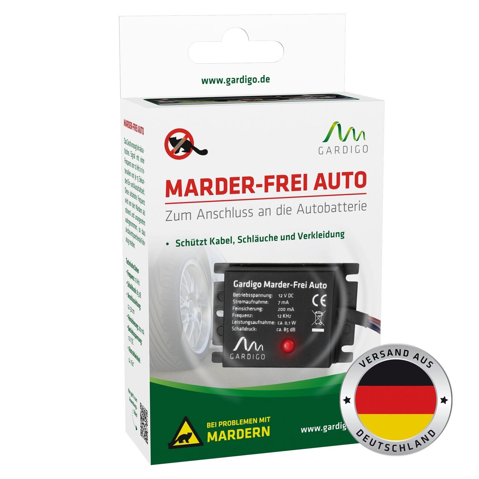 Gardigo Marderschreck Ultraschall Marderschutz Auto Marderabwehr Marderfrei