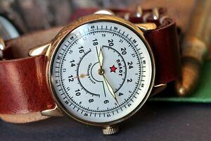 Sturmanskie-Mens-Mechanical-Watch-Raketa-Aviator-Vintage-military-Watch-Serviced