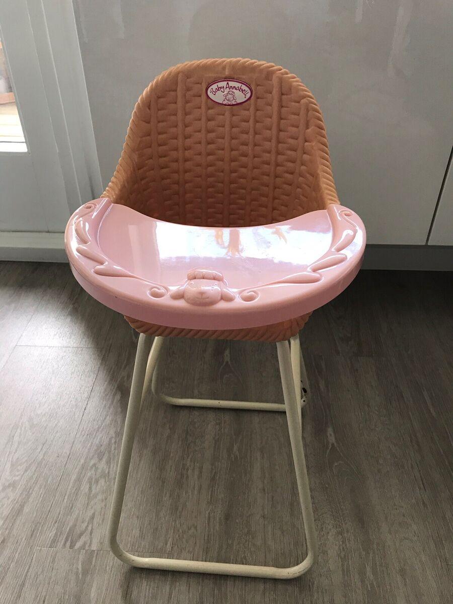Dukkemøbler, Baby Annabell højstol, Baby annabell højstol