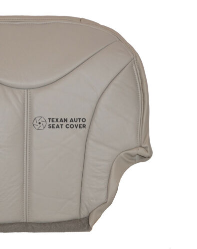 01 02 GMC Sierra 1500HD SLE// SLT Driver Bottom Synthetic Lether Seat Cover Shale