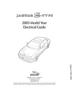 JAGUAR S-Type 2003 ELETTRICO guida manuale ristampa Pettine vincolato