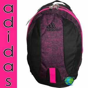 02dfd18e4b ADIDAS JOURNAL LARGE CAPACITY BACKPACK SCHOOL BOOK BAG BLACK MAGENTA ...