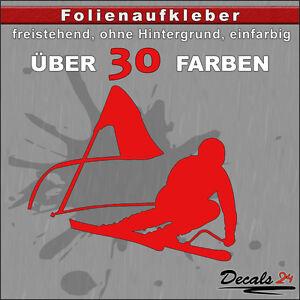 Skifahrer-Aufkleber-Folienaufkleber-Auto-Motorrad-Ski-Sport-30-Farben-10cm