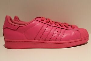 hot sale online b9bb1 626ae Image is loading adidas-Superstar-Supercolor-Pack-Pharrell-Williams-Solar- Pink-