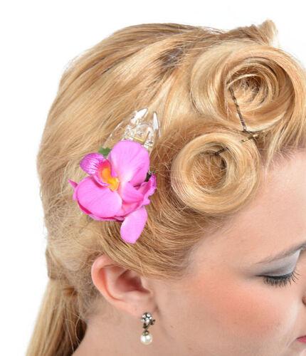 Lila Rockabilly Cute Tiki ORCHIDEEN Blüten Flower Haarspange