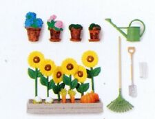 Lundby 83.2005 Gotland Garten Set Blumentöpfe Beet Zubehör für Puppenhaus 1:18