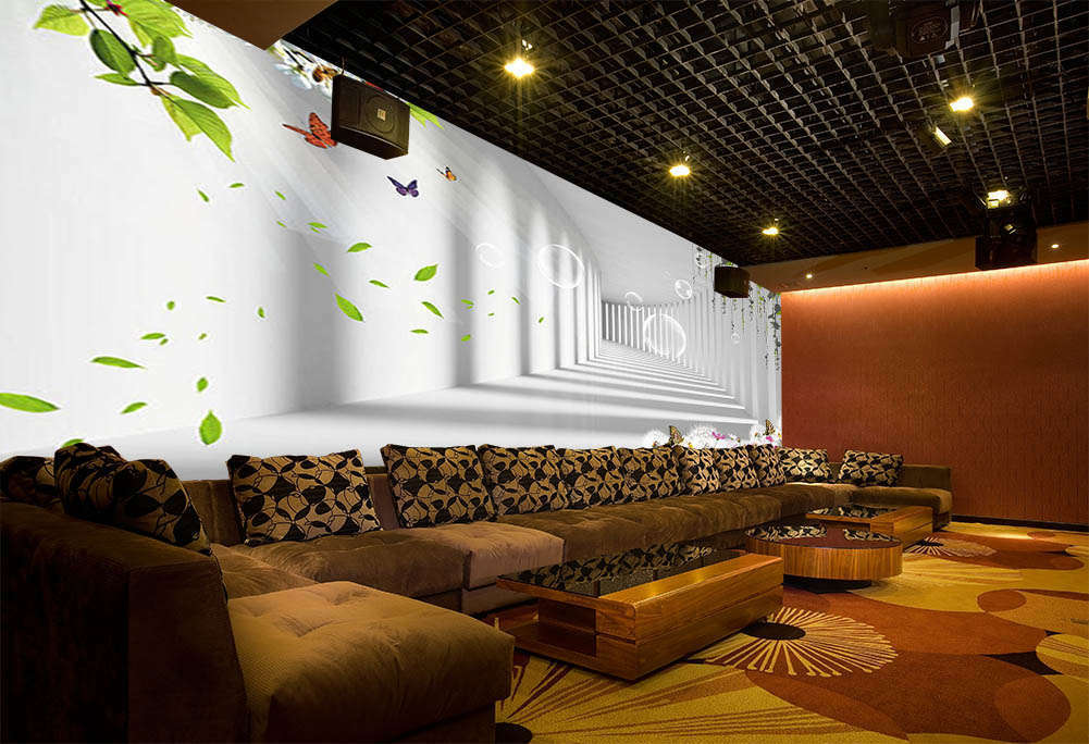 Dream Corridor Bubbles 3D Full Wall Mural Photo Wallpaper Print Home Kids Decor