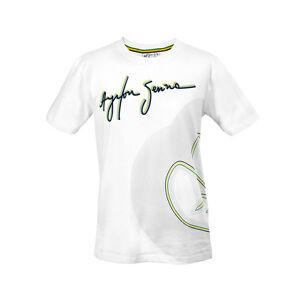Go-Kart-T-Shirt-Senna-Track-Lines-White-M-Brand-NEW