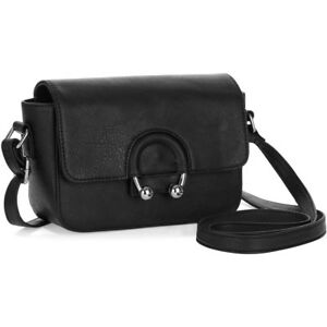 ed5f1cec42 No Boundaries Ring Detail Faux Leather Crossbody Black Shoulder ...