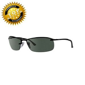 241fbdc16b6 Ray-Ban Men s RB3183 Top Bar Rectangular Sunglasses