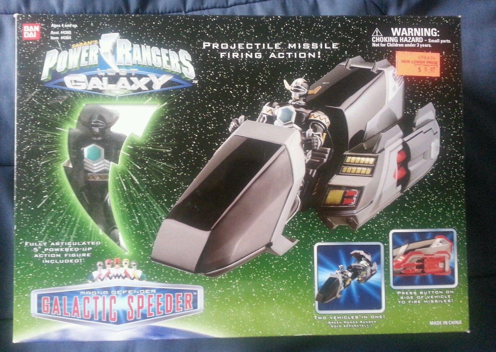 diseñador en linea Power Rangers perdió Galaxy Magna Defender galáctica Speeder sin sin sin usar y en caja sellada Sellado  perfecto
