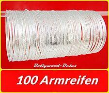 100 Bollywood Armreifen Orient Sari Bauchtanz Filigran♥Ø 6,5 cm Silberfarbe