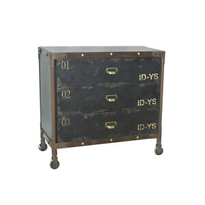 kommode schubladenschrank rollen industriedesign loft anrichte sideboard metall ebay. Black Bedroom Furniture Sets. Home Design Ideas