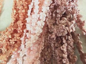 Vintage-Rococo-3-8-034-Trim-Rayon-Ribbon-Edge-Flowers-1yd-Made-in-France