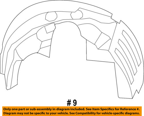 Dodge CHRYSLER OEM Journey-Front Fender Liner Splash Shield Right 5116278AE
