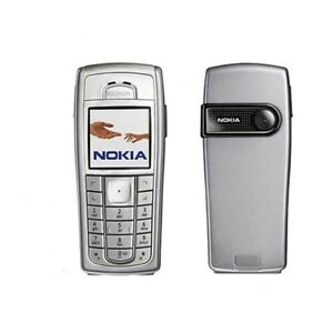 Image Is Loading 100 Nokia 6230i Silver Black Unlocked Cellular Phone